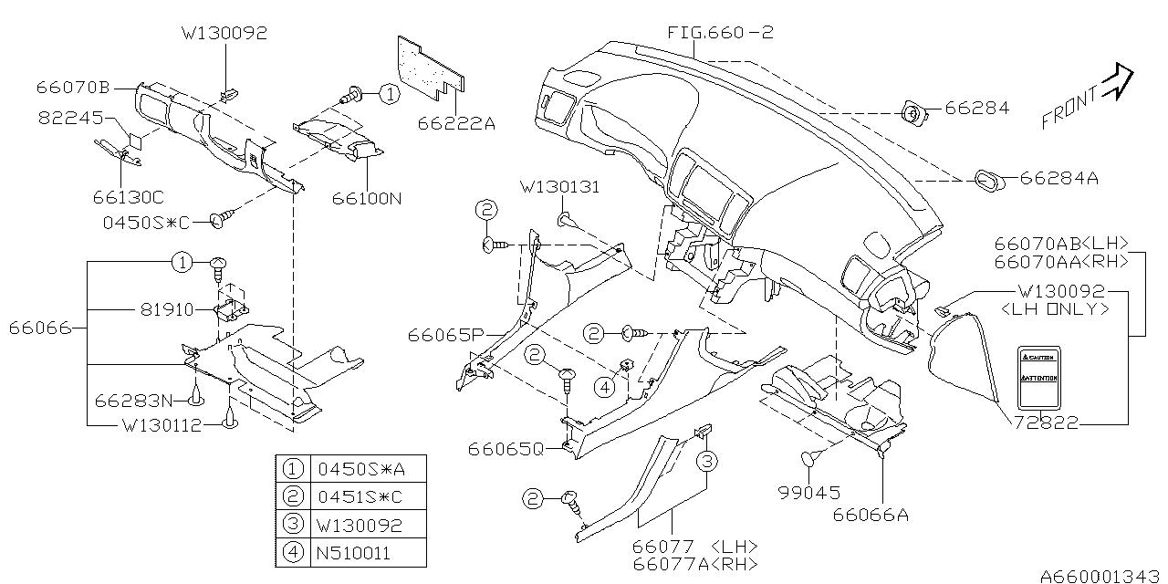 66075ag01ajc genuine subaru cover lower d sia