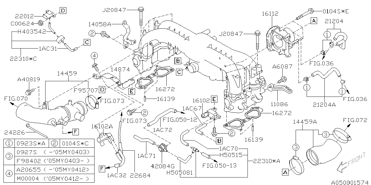 Subaru Legacy: 2005 Subaru Legacy Gt Intake Manifold Diagram