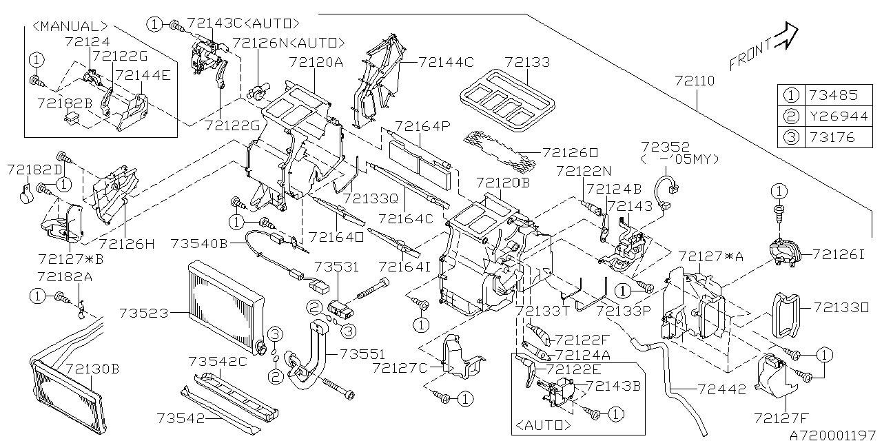 72131ag12a Genuine Subaru Servo Motor