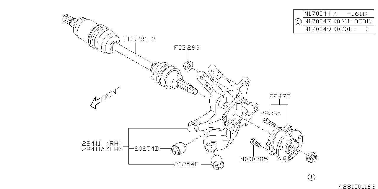 28473XA00B - Genuine Subaru HUB UNIT COMPLETE