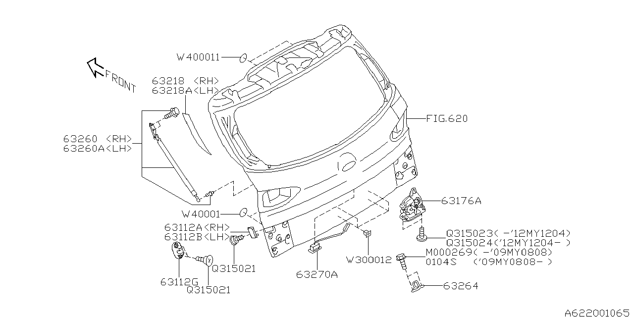 63032XA00A - Genuine Subaru LATCH&ACT ASSY RG