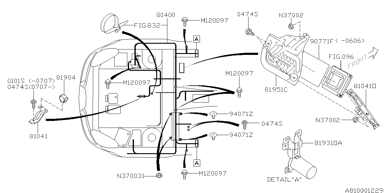81402XA00A - Genuine Subaru WIRING HARNESS CENTER BHD