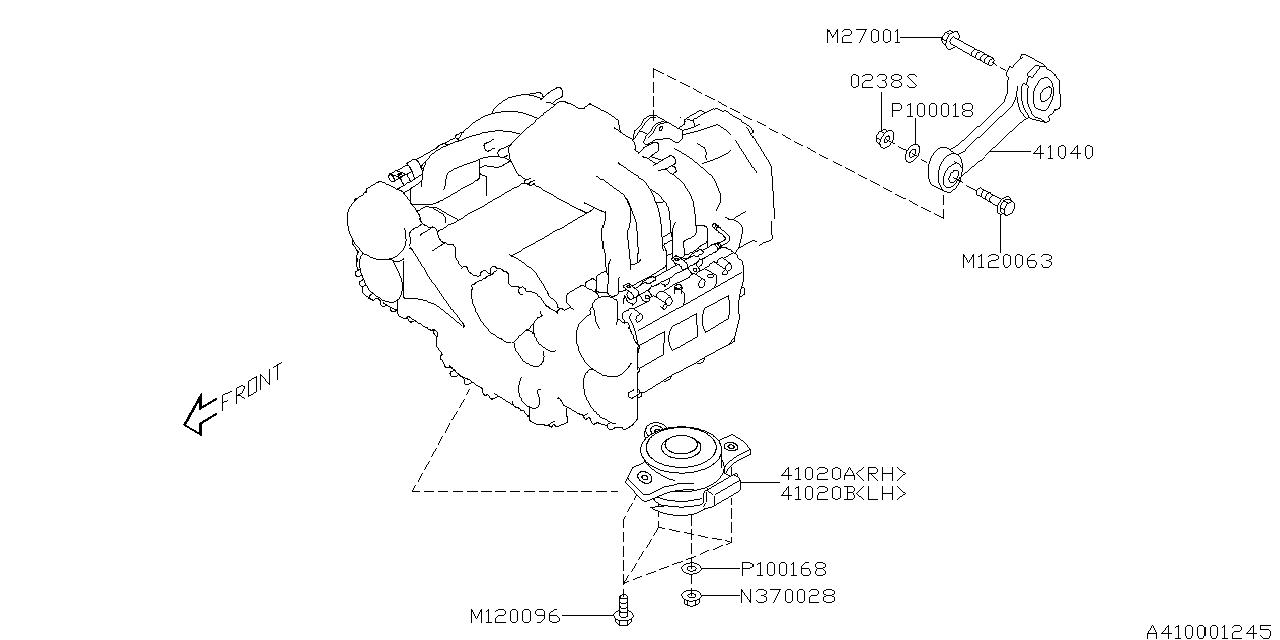 2006 Subaru B9 Tribeca Engine Diagram