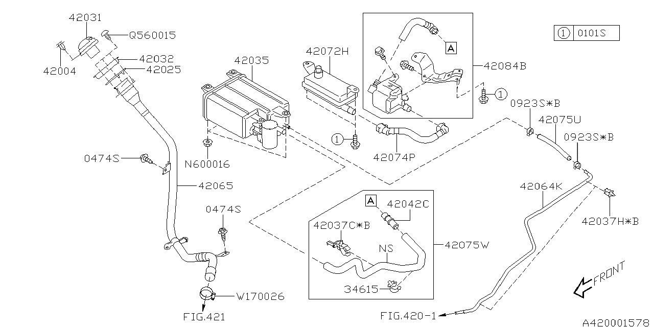 42084xa02a Genuine Subaru Valve Assembly Leak Check