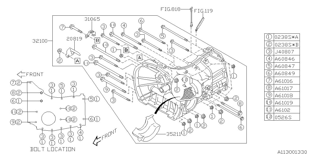 31065AA010 - Genuine Subaru BRACKET AIR BREATHER