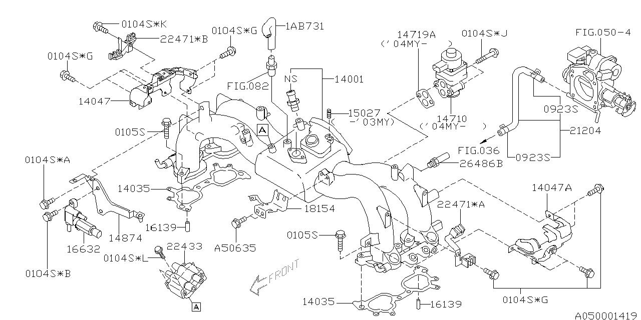 2003 subaru forester intake manifold
