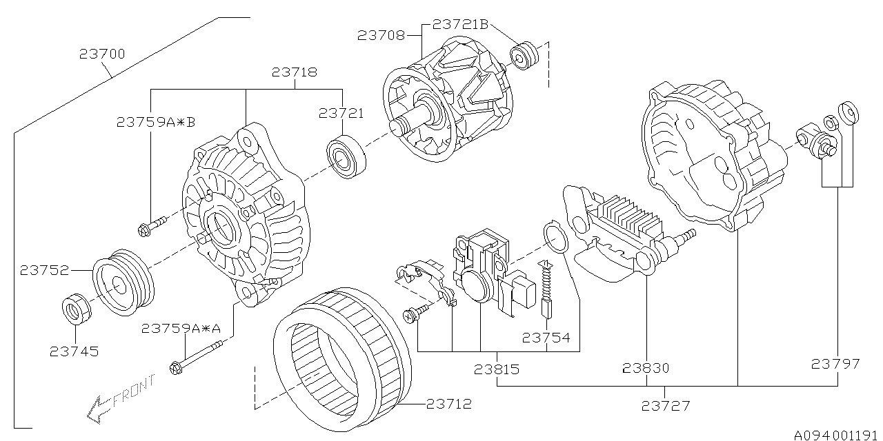 2003 subaru baja parts diagram
