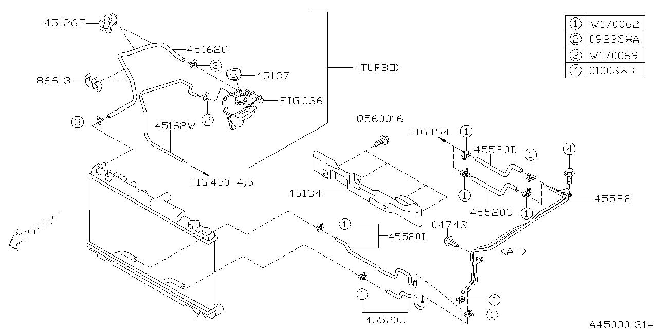 45162SA020 - Genuine Subaru HOSE OVER FLOW RADIATOR