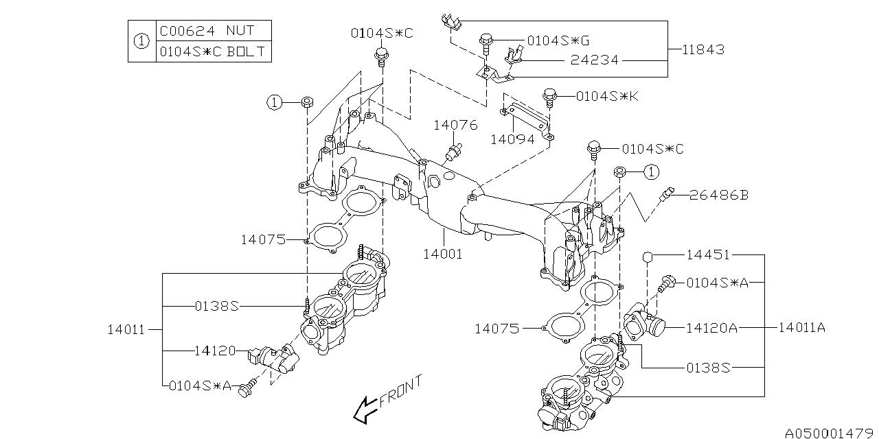 subaru 14011ab341 Subaru Fuel System Diagram