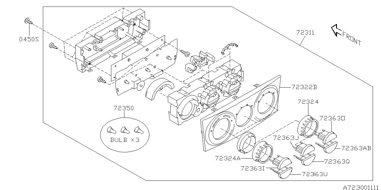 72363SA020 - Genuine Subaru KNOB A/C