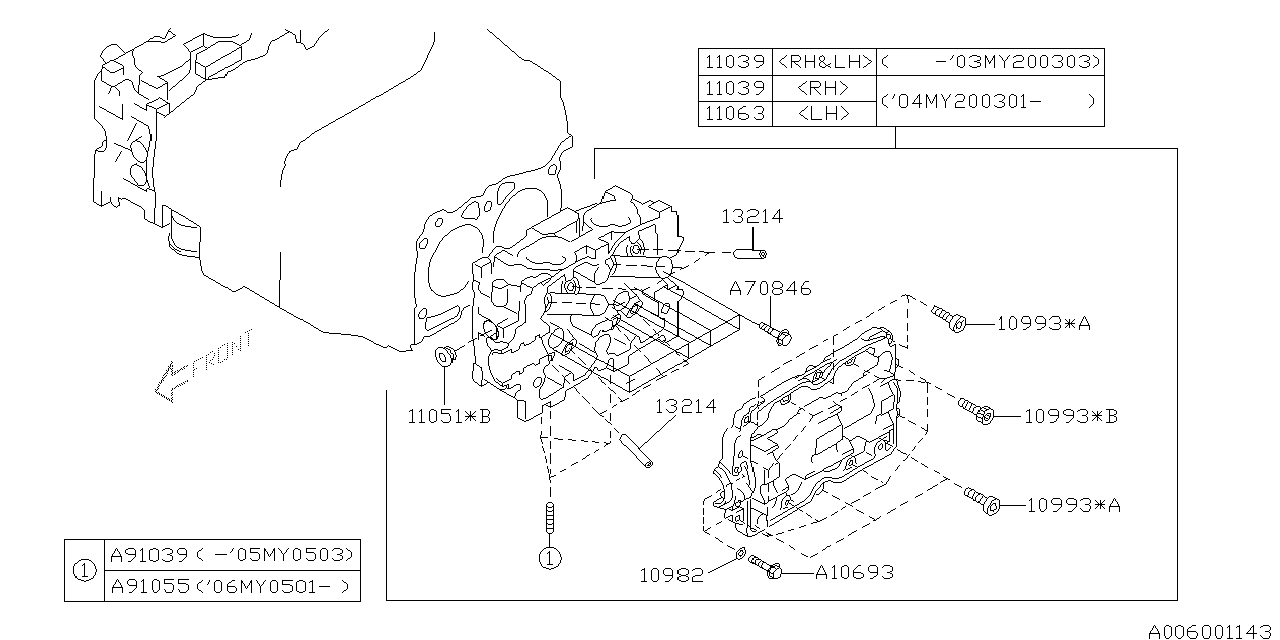 2007 Subaru Forester Cylinder Head Subaru Parts Deal