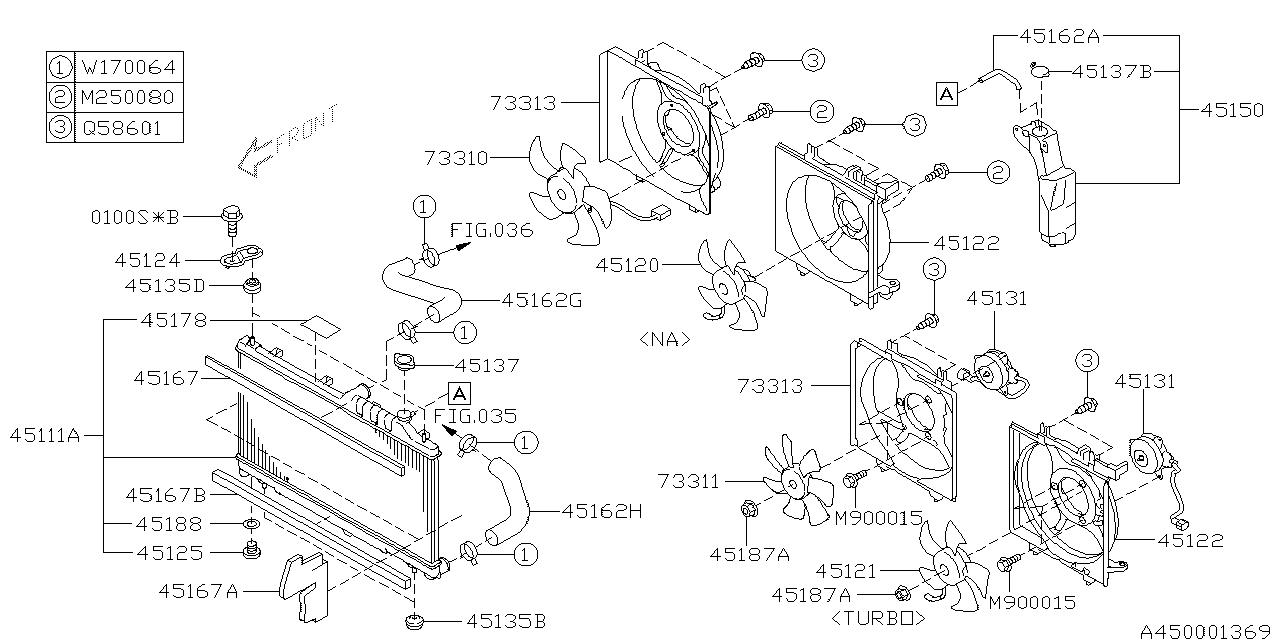 2011 subaru outback engine diagram 45121ag02a genuine subaru fan motor assy  45121ag02a genuine subaru fan motor assy