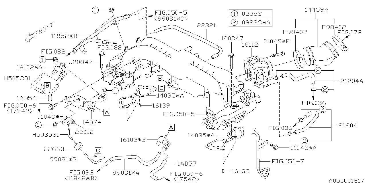 22012AA230 - Genuine Subaru SENSOR ASSY VACUUM