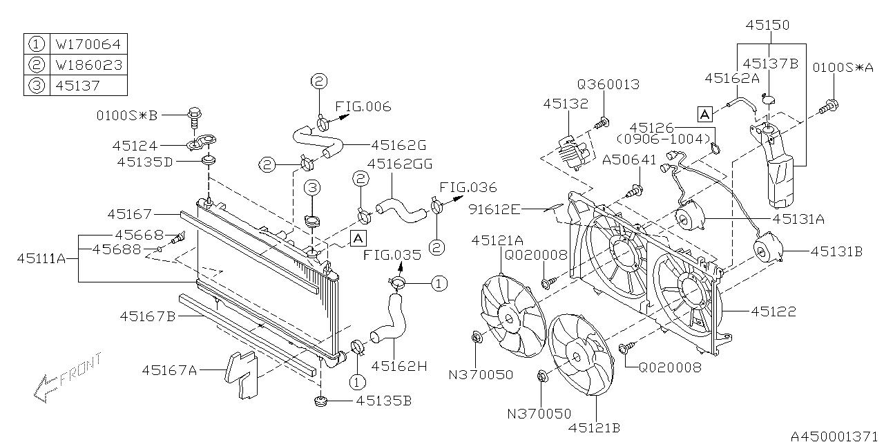 2011 subaru outback engine diagram 45161aj060 genuine subaru radiator hose inlet  genuine subaru radiator hose inlet