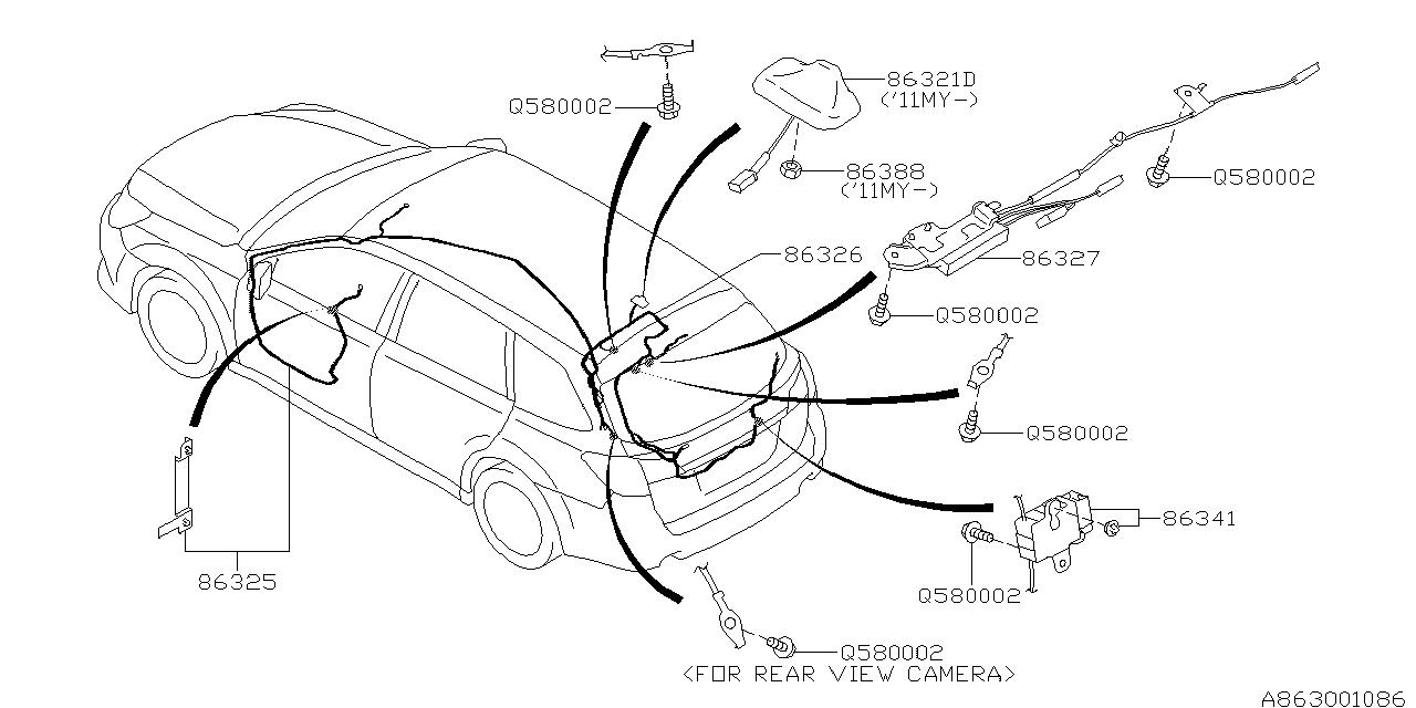 2010 Subaru Outback Audio Parts - Antenna - Thumbnail 1