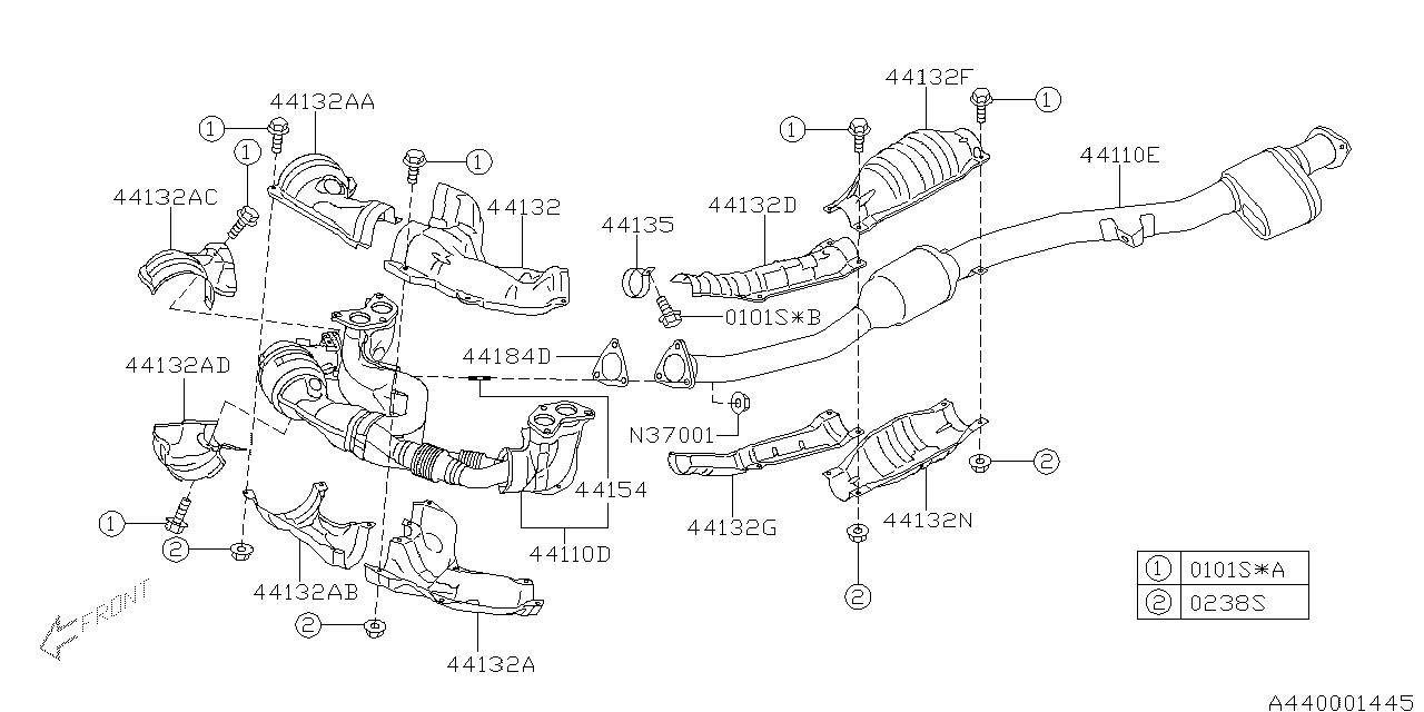 2008 Subaru Outback Exhaust System Diagram