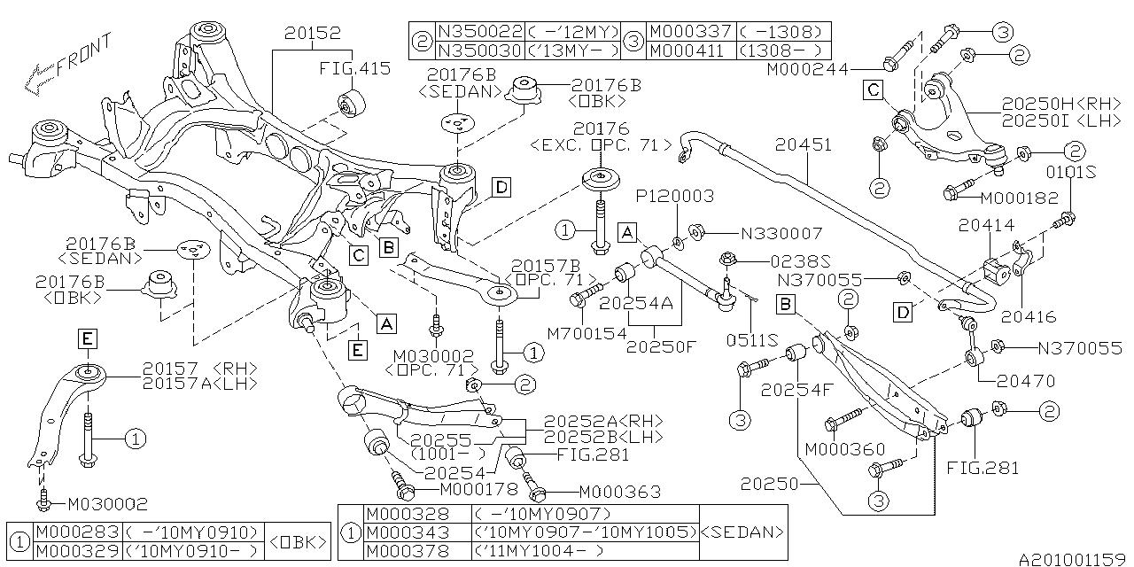 2011 subaru outback engine diagram 20470aj010 genuine subaru stabilizer lk rear  20470aj010 genuine subaru stabilizer