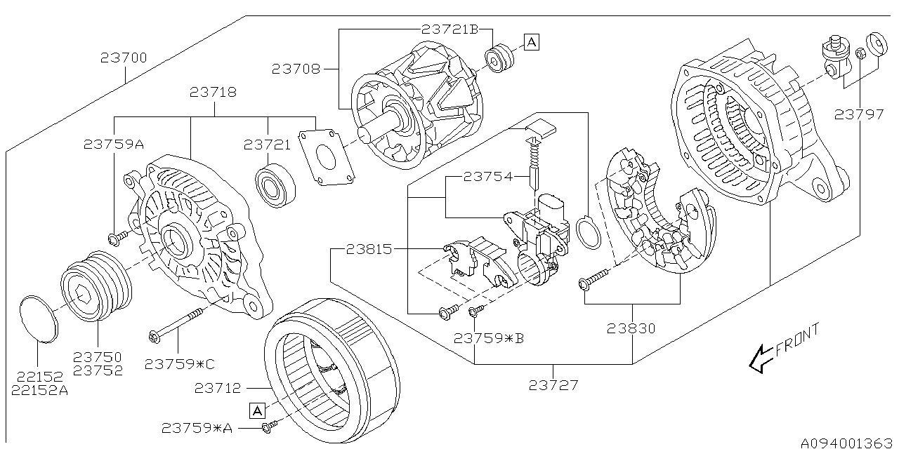 2016 Subaru Forester Alternator