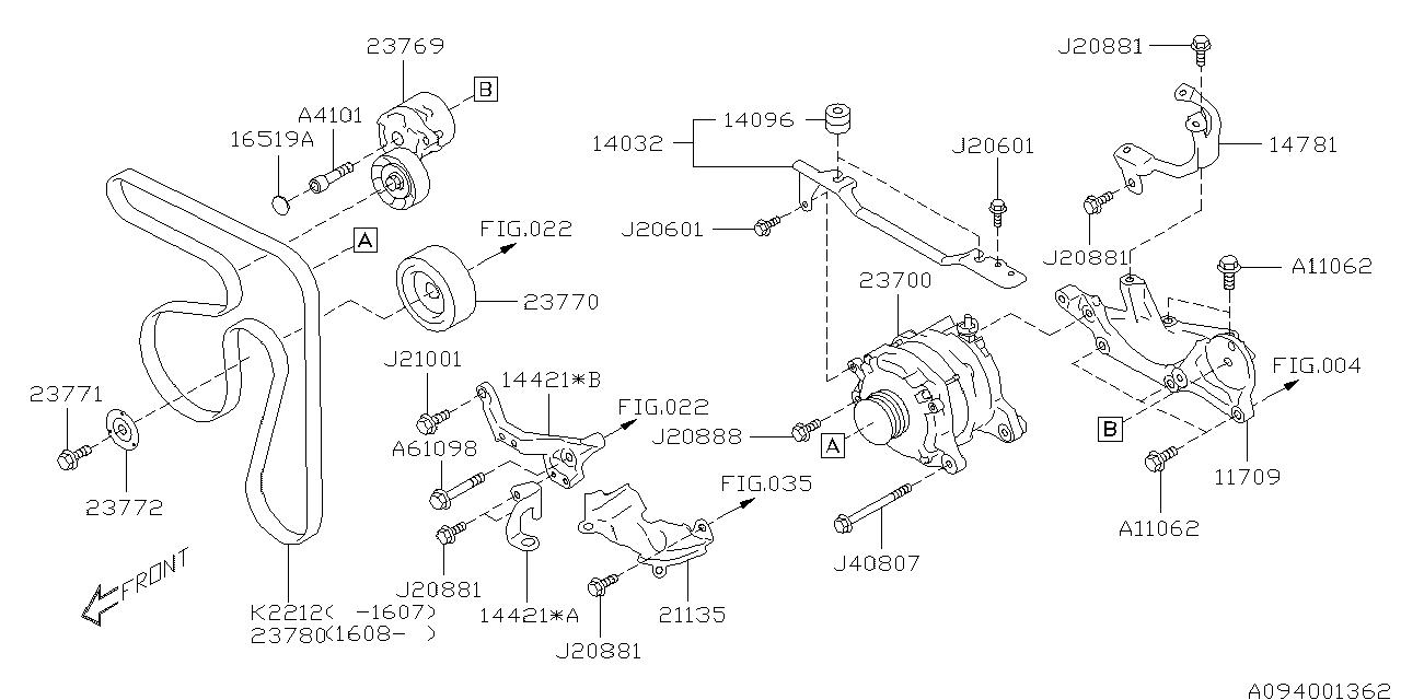 23700aa760 genuine subaru alternator assy Ford Focus Alternator Diagram 2014 subaru forester alternator