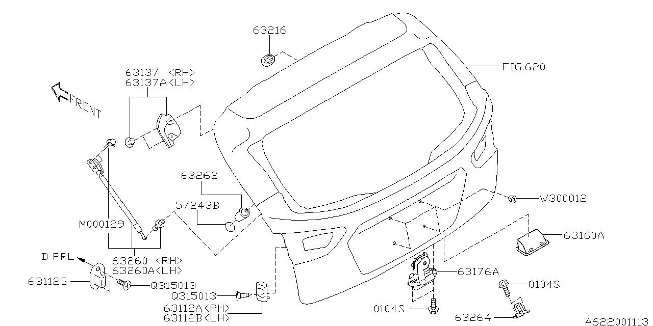 2017 Subaru Impreza Back Door Parts