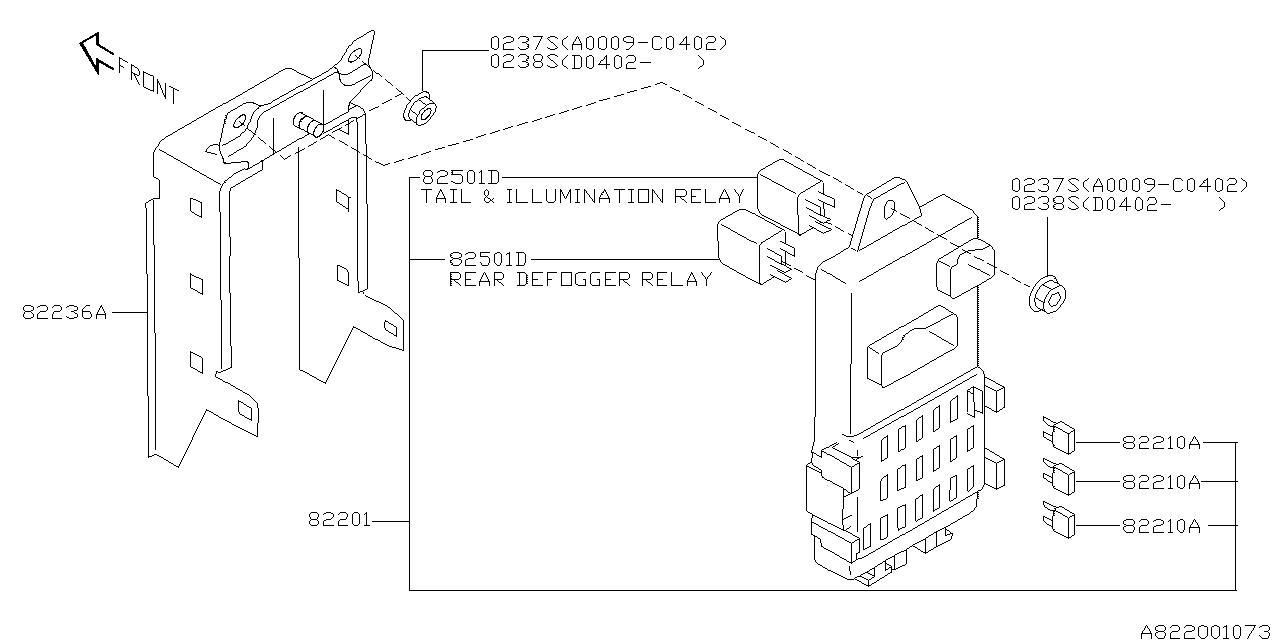 Subaru Impreza Fuse Box