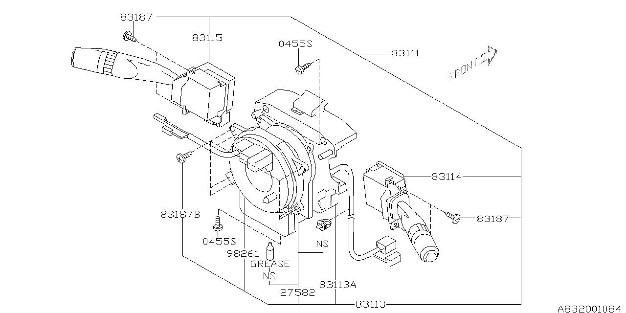 27549ag001 Genuine Subaru Sensor Steering Angle