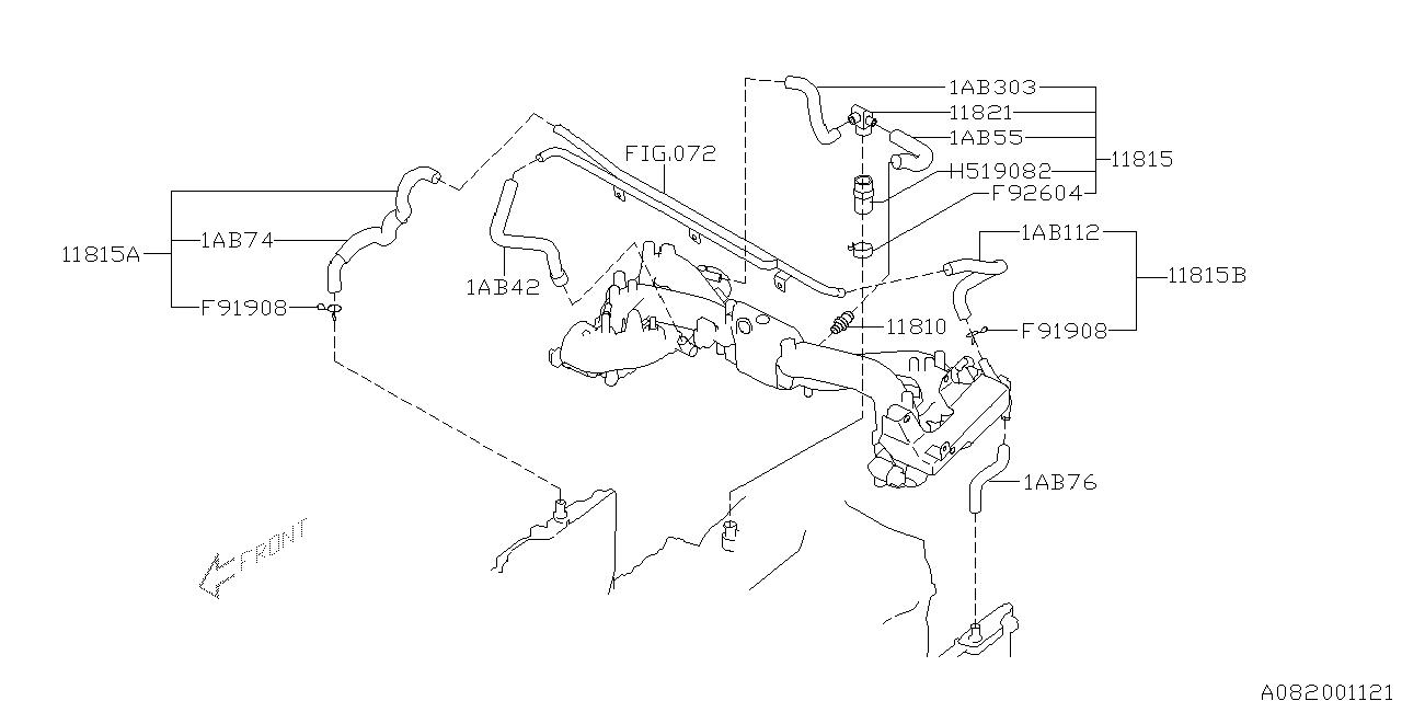 1999 Subaru Outback Engine Parts Diagram