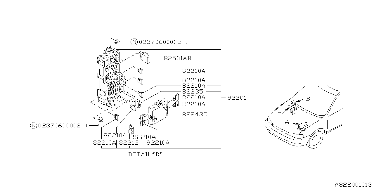 82215fa040 Genuine Subaru Joint Box Assy