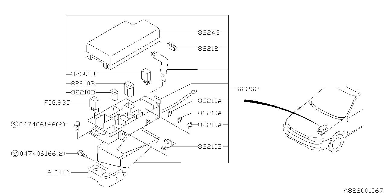 82232fa100 Genuine Subaru Main Fuse Box Assy