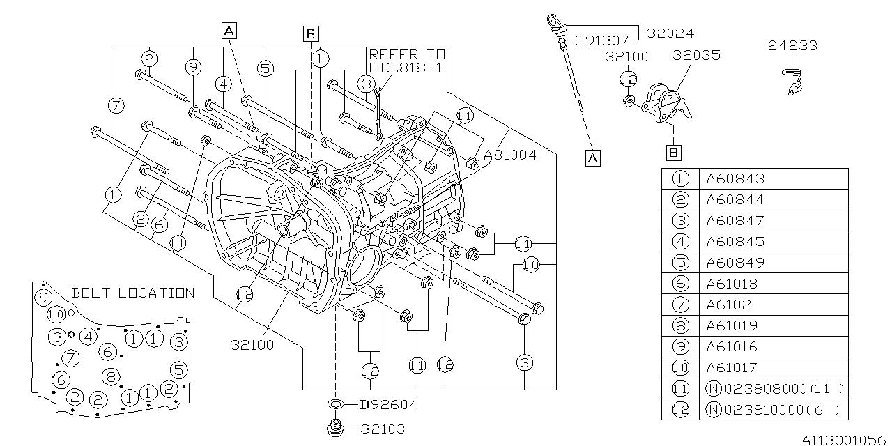 1997 subaru impreza manual transmission transmission case