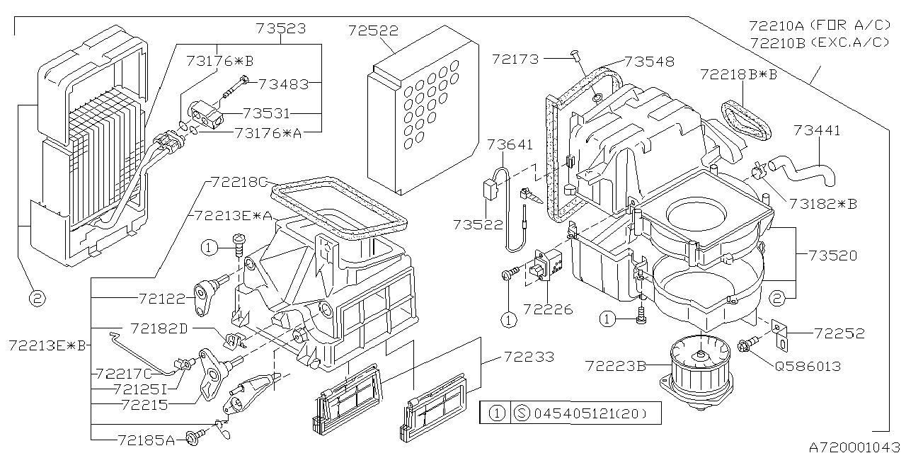 73531fa112 Genuine Subaru Expansion Valve Cooling