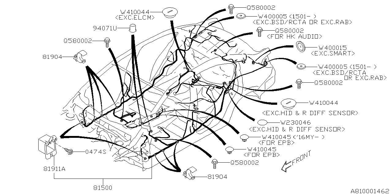 81502VA062 - Genuine Subaru WIRING HARNESS REAR