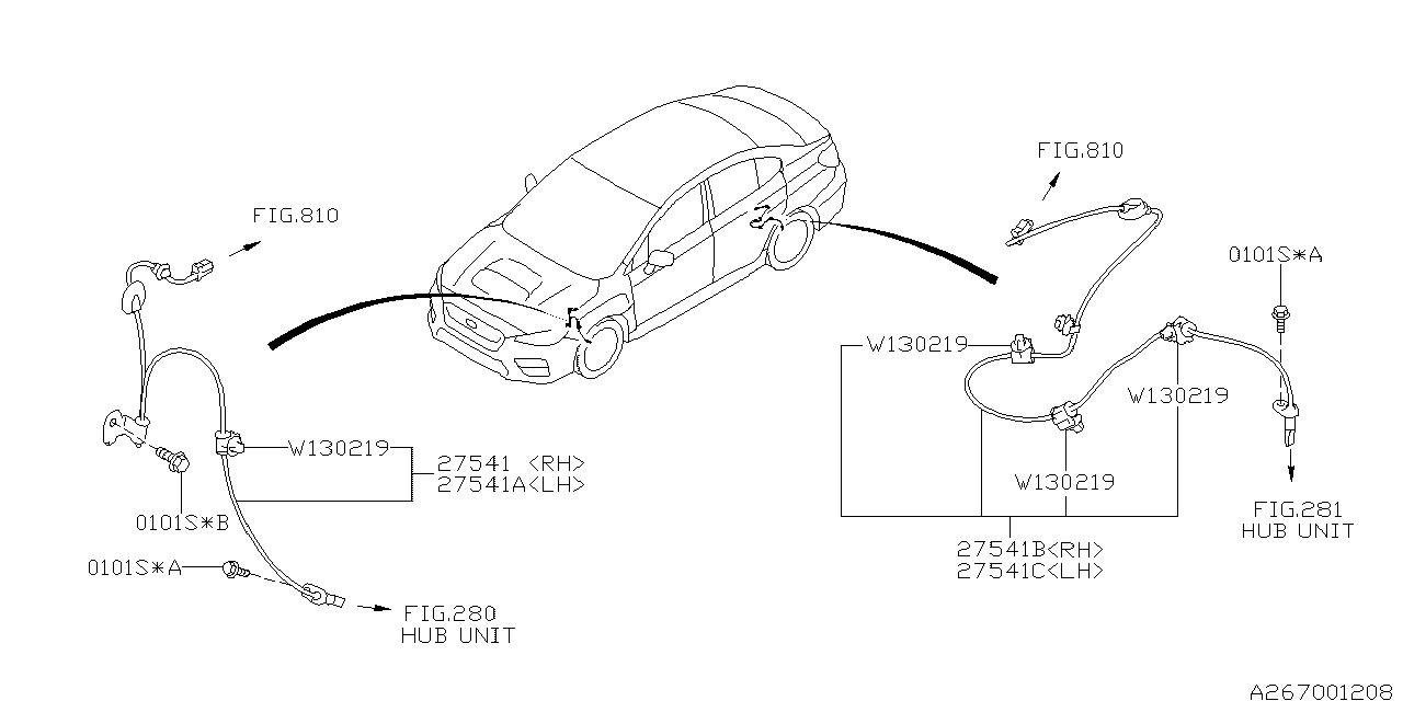 2017 Subaru WRX STI Antilock Brake System