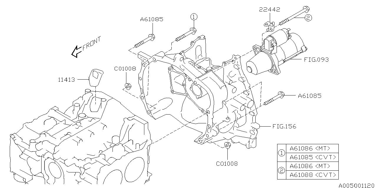 2017 Subaru WRX Timing Hole Plug & Transmission Bolt