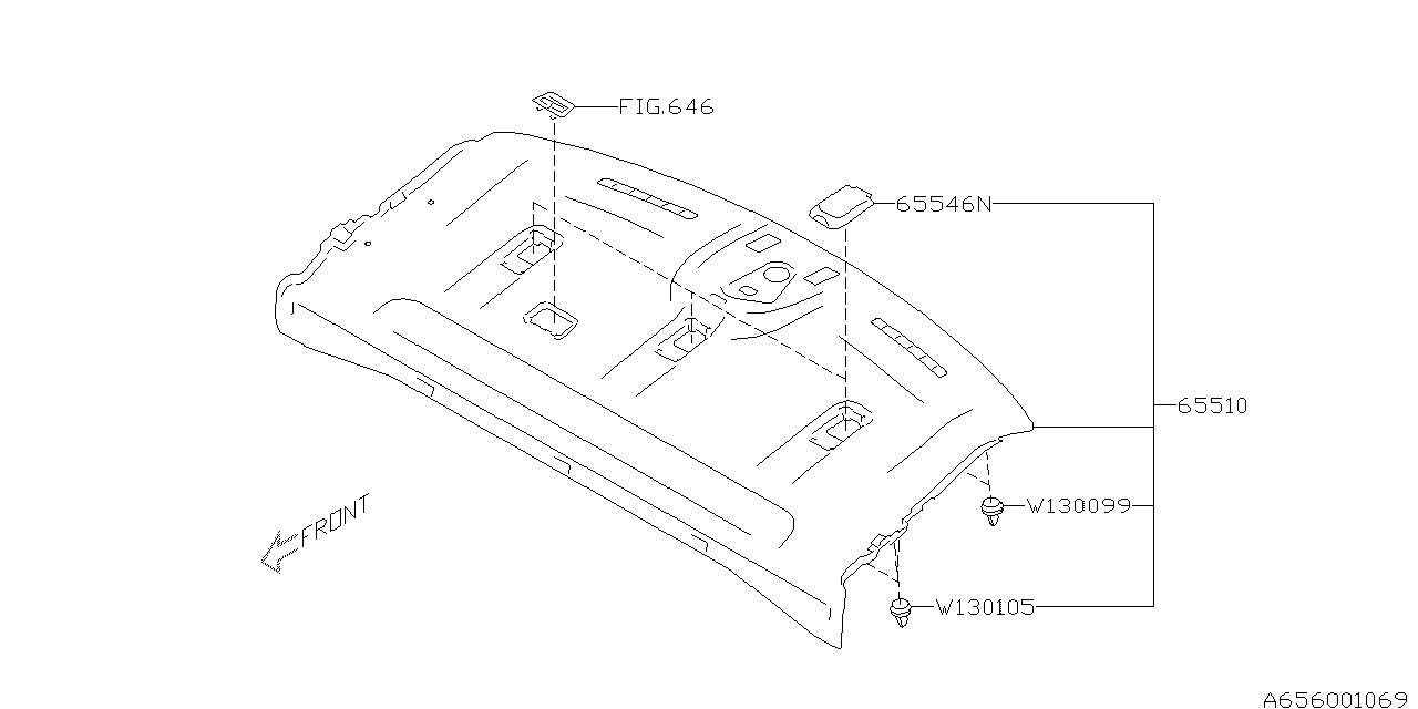 2017 Subaru WRX Luggage Shelf Rear