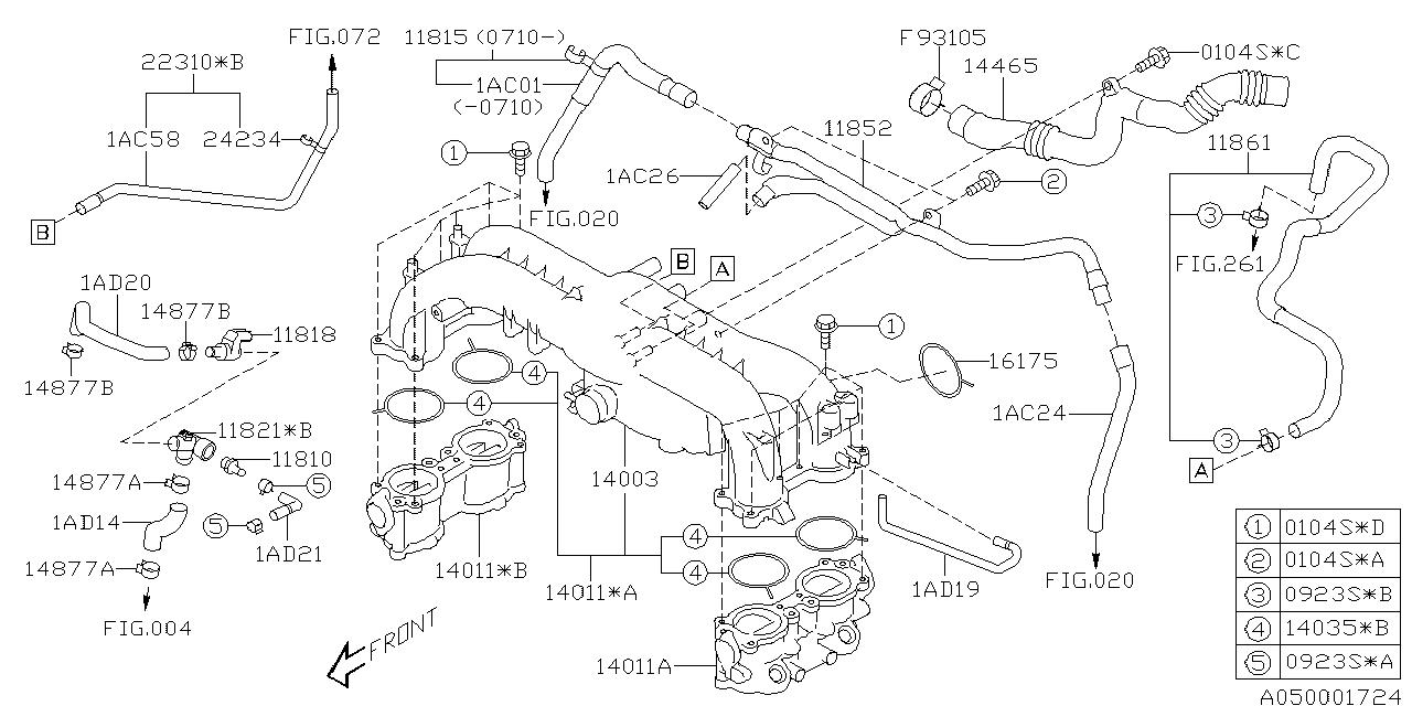 99071AC010 - Genuine Subaru HOSE VACUUM