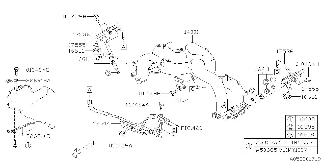 subaru 14001ab970 Subaru Fuel System Diagram