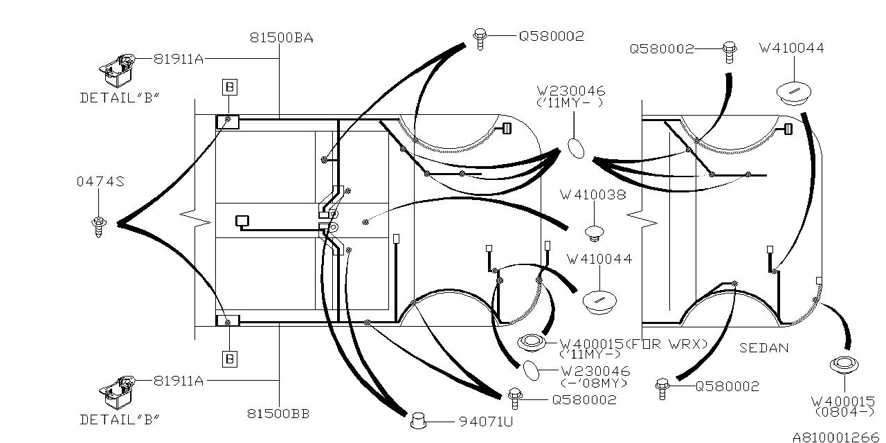 HARNESS-REAR,LEFT  Subaru Sti Wiring Diagram on