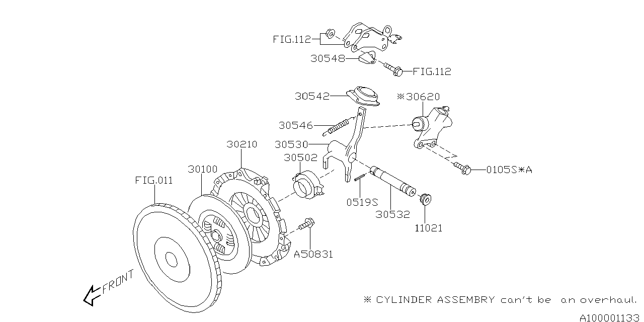 2012 Subaru Impreza WRX Manual Transmission Clutch