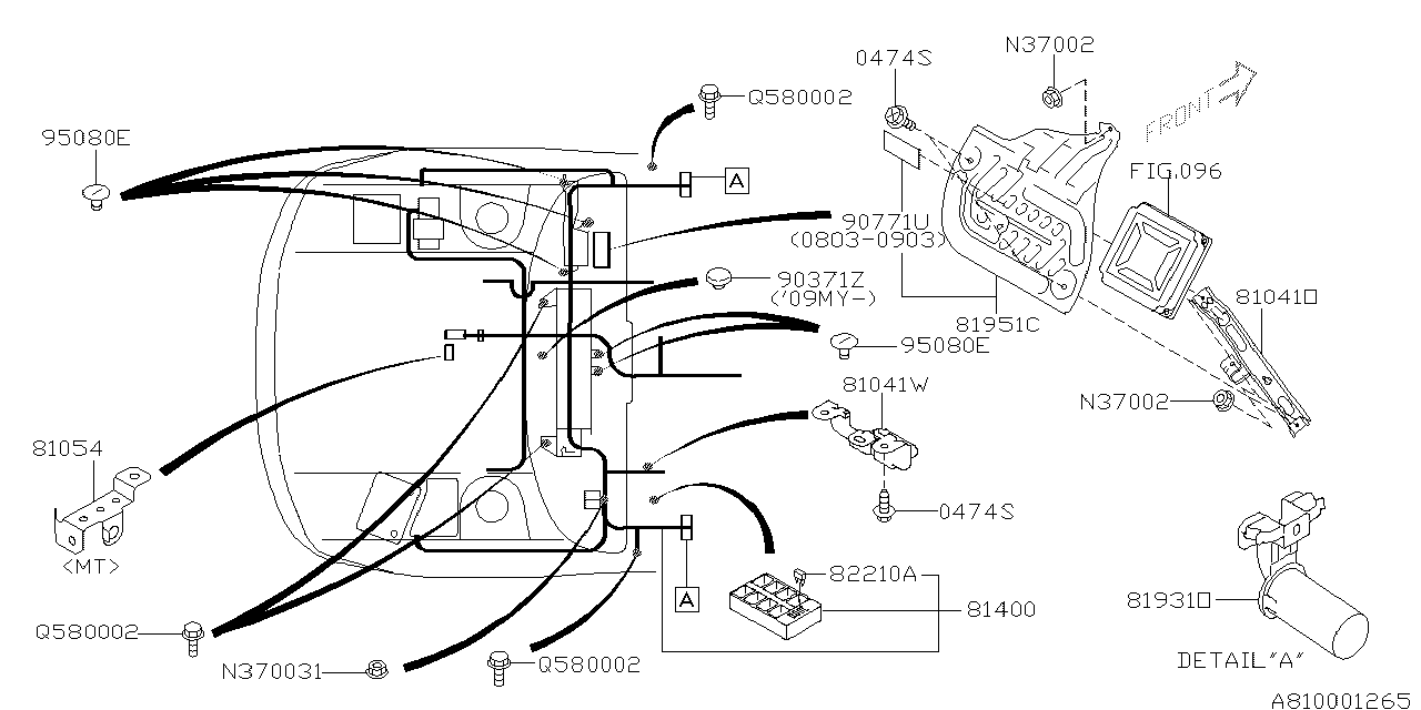 81402FG300 - Genuine Subaru WIRING HARNESS CENTER BHD