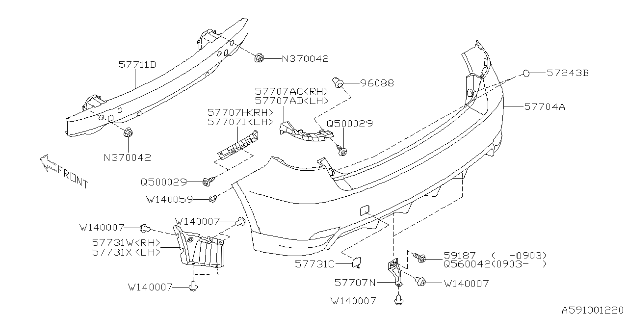 59132AA010  Genuine    Subaru    SCREW