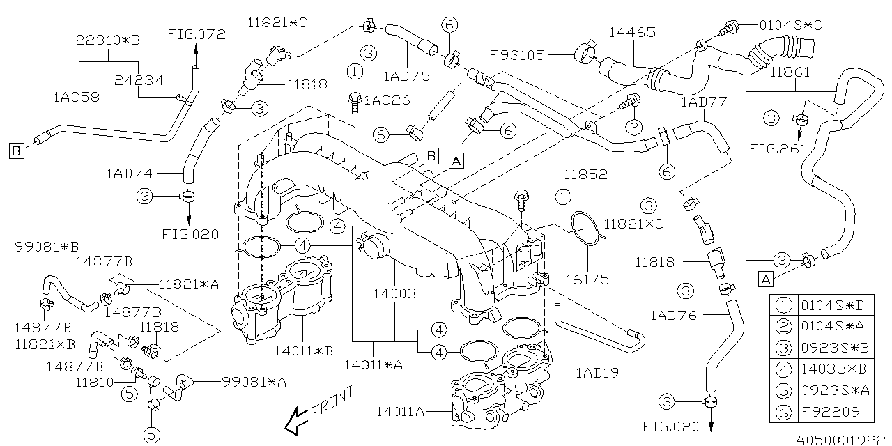 14035aa492 genuine subaru gasket intake manifold. Black Bedroom Furniture Sets. Home Design Ideas