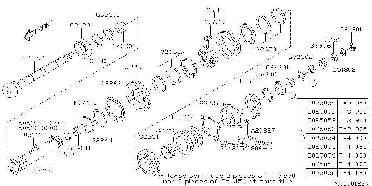32231ab390 - genuine subaru gear