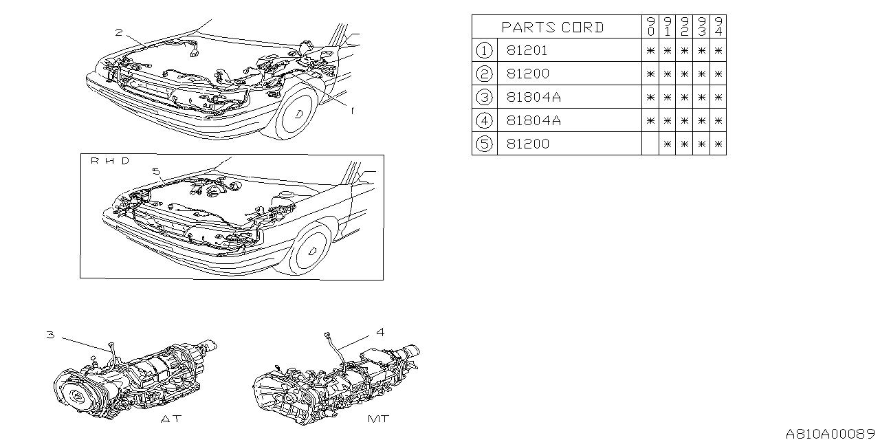 1992 Subaru Legacy Wiring Diagram
