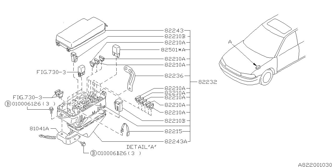 82232AC010 - Genuine Subaru MAIN FUSE BOX ASSY