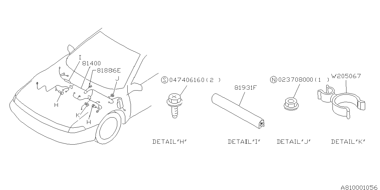 1994 subaru svx wiring harness - main