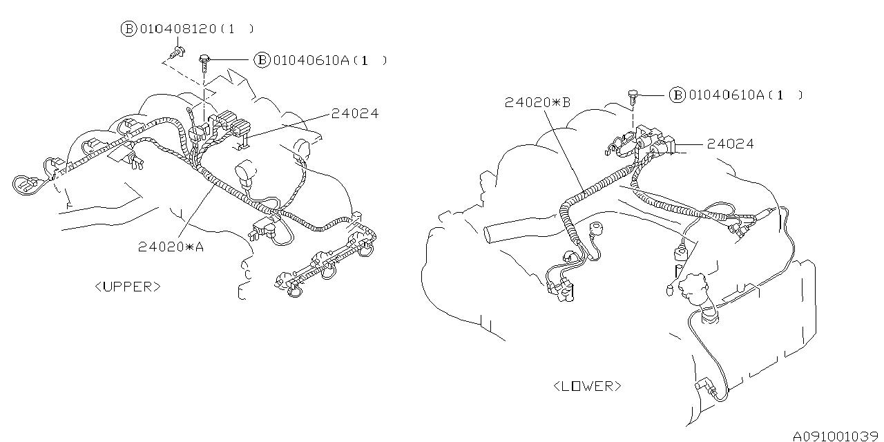 1996 subaru svx engine wiring harness subaru parts deal Toyota Cressida Wiring Harness
