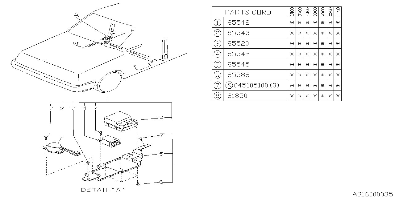 85521GA351 - Genuine Subaru POWER WINDOW WIRE HARNESSSubaru Parts Deal