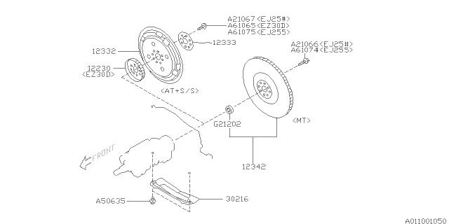 2003 Subaru Legacy Flywheel Subaru Parts Deal