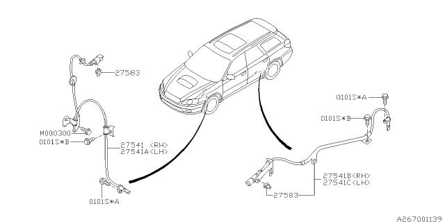 For 2005-2015 Subaru Legacy Brake Hardware Kit Front 87253GH 2006 2007 2008 2009